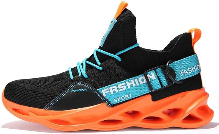 FJJLOVE Zapatillas De Running De Carretera para Hombre, Zapatillas Deportivas Flexibles Y Cómodas Zapatillas De Caminar Transpirables Casuales Zapatillas Antideslizantes Amortiguadoras,Naranja,41: Amazon.es: Hogar