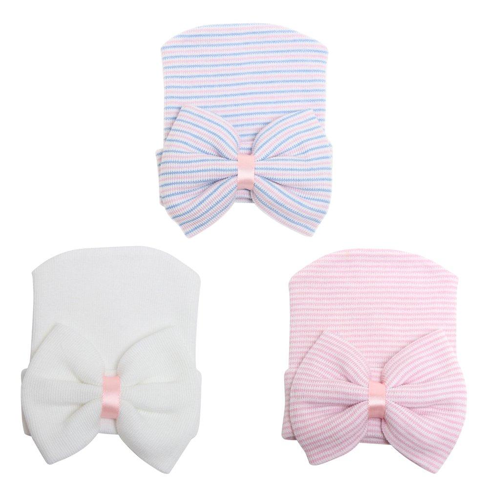 COUXILY Babymütze Baby Mädchen Mütze Neugeborenenmütze Erstlingsmütze Strick Hüte Mützen & Caps Hut- Baumwolle für 0-2 Jahre