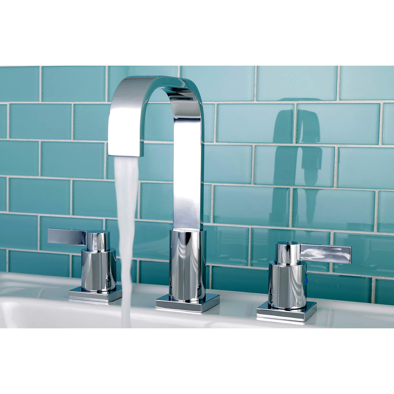 Oil Rubbed Bronze 5-1//2 Inch Spout Reach 5-1//2 Inch Spout Reach Kingston Brass FSC8965NDL Kingston Brass Nuvofusion Widespread Lavatory Faucet with RETAIL Pop-Up
