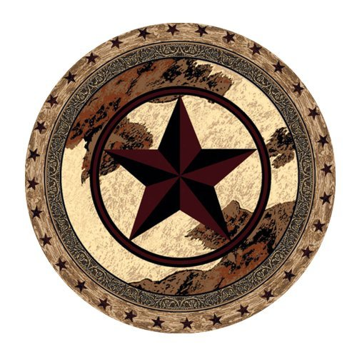 Western Texas Star Computer Mouse Mat for Round Mouse Pad lovely
