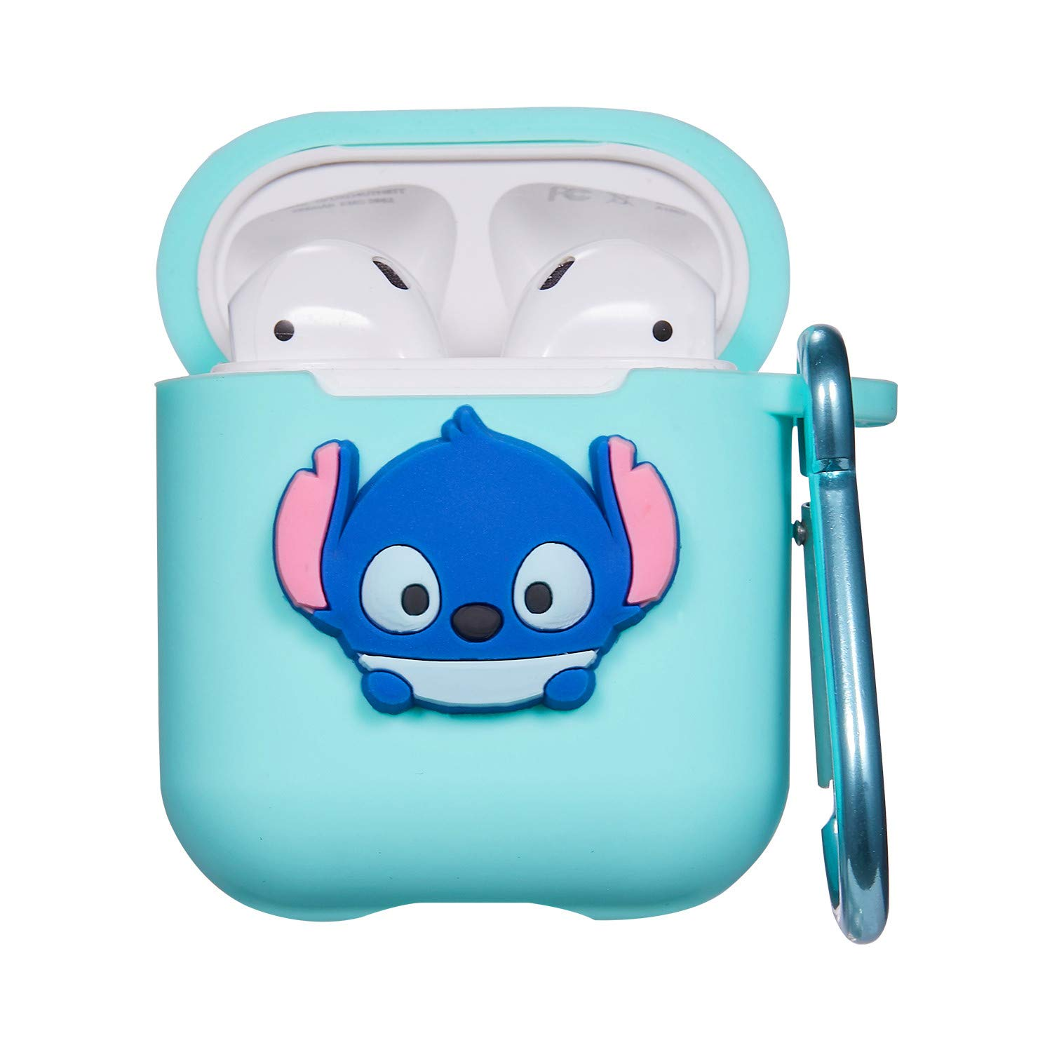 Punswan for Airpods 1 & 2 Charging Case,3D Cute Silicone Cartoon Airpod Charging Dock Cover,Character Design Air pod Girls Kids Women Soft Full ...