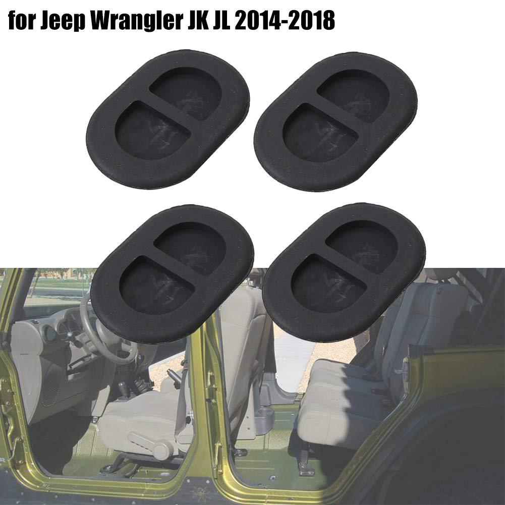 E-Most 4PCS Floor Pan Plug Rubber for Jeep Wrangler JK JL 2014-2018 Car Rubber Plugs