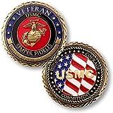 U.S. Marines Veteran Challenge Coin by Northwest Territorial Mint