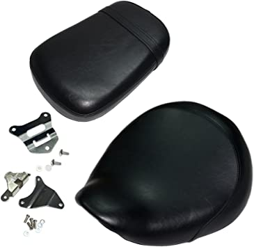 Motorcycle Leather Front Driver Seat+Rear Passenger Pillion Rear Seat Leather For Honda Shadow Aero VT-750C VT750C 2004-2013 VT 750 C 2012 2011 2010 2009 2008 2007 2006 2005 Front Seat+Rear Seat