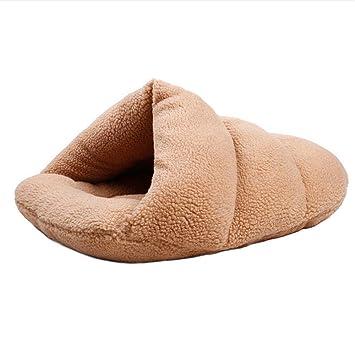Wuwenw Forma De Zapatilla Casa De Mascotas Cómodo Gato Saco De Dormir Cama Caliente Perrera Perrito