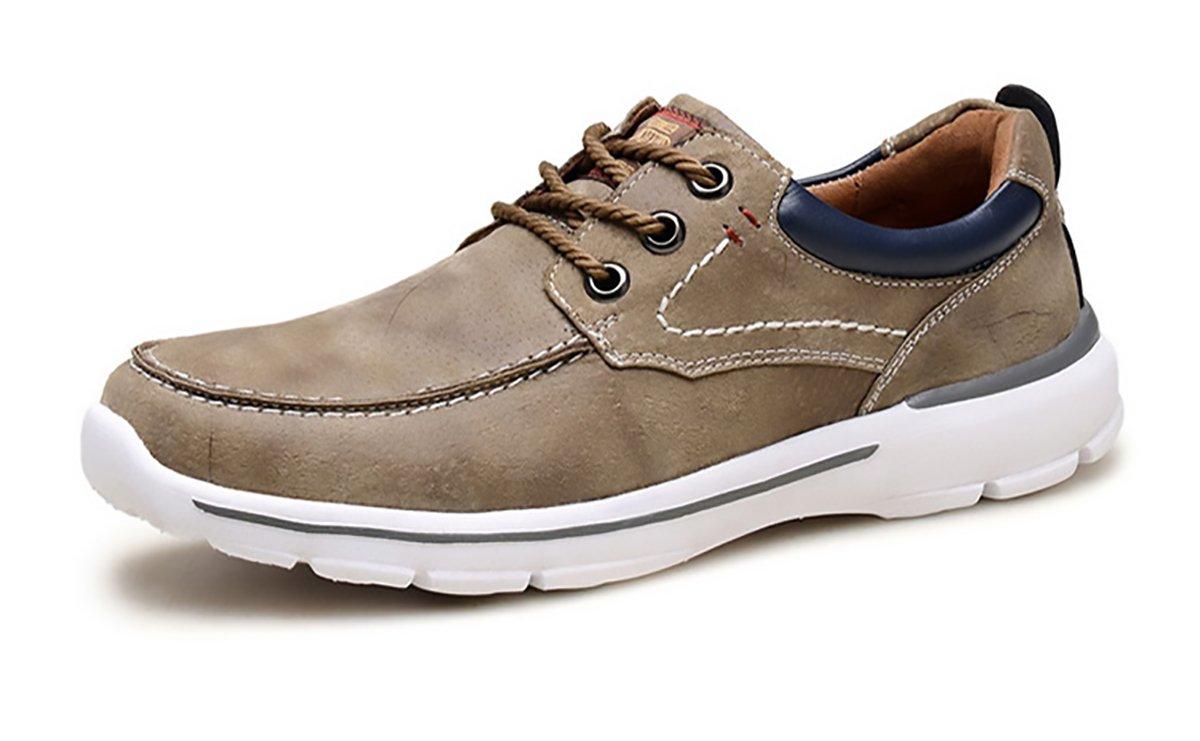 Herren Leder Bootsschuhe Mode Lauml;ssig Sport Drei Augen Dicke Sole Travel Outdoor Arbeit  UK6(39EUR) Brown