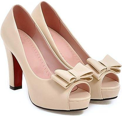 Toe Bow Women Party Shoes Peep Toe