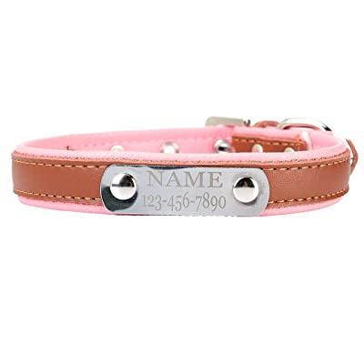 Mogoko Personalized Soft Leather Dog Collar