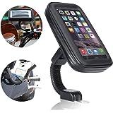 Support Etanche Téléphone, Ubegood Support Moto to du Guidon Universel Réglable Support de Téléphone sur Vélo & Moto, Rotation à 360 °pour iPhone 6 Plus/ 6S Plus/ 7/ 7 Plus/ Samsung s7 edge, etc (5,5 pouces)