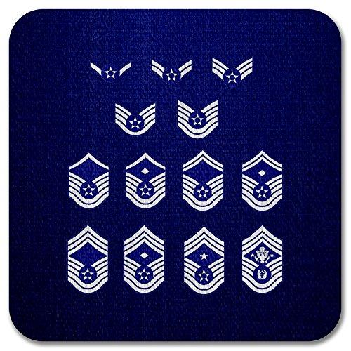 Rank Vinyl Sticker - ExpressItBest Premium Vinyl Decal/Sticker - US Air Force, enlisted rank insignia