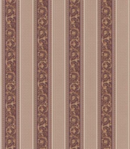 (Brewster 430-7011 XV Ornamental Scroll Stripe Wallpaper, 20.5-Inch by 396-Inch, Neutral )