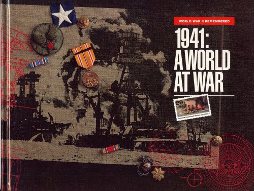 USPS STAMPS 1941: A WORLD AT WAR; WORLD WAR II REMEMBERED (UNITED STATES POSTAL SERVICE Hardcover Features 20 Stamps In Covers, 10 In One Block and Each Single Stamp Featured On Its Own Page. World War II Remembered)