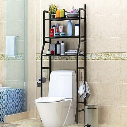 AZJ-AJR Estanteria WC con estantes para baño sobre el Inodoro ...