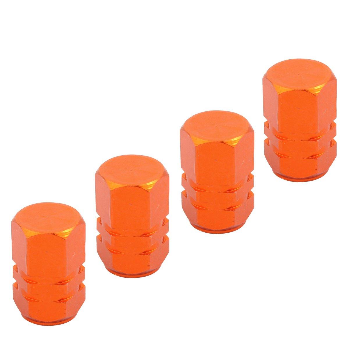 TOMALL Chapeaux orange de tige de valve de pneu de roue de mod/èle dhexagone pour la jeep SUV 4WD Jims Cover Dust