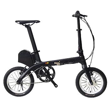 """Sava E0 14"""" Marco de fibra de carbono plegable Bicicleta eléctrica 36V/180W E"""