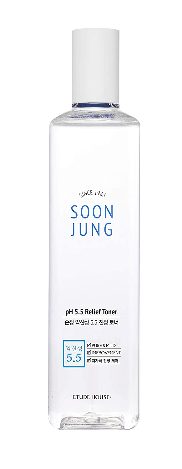 ETUDE HOUSE Soonjung pH5.5 Relief Toner (350ml) | Skin Care Solution | Acne Skin Care Face Wash Toner for Anti Aging Women