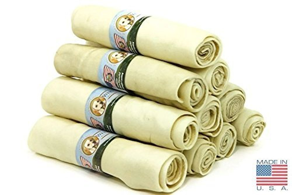 10 Inch (10 Pack) of Wholesome Hide Super Thick Retriever Rolls 10 Inch