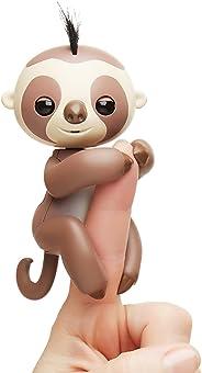 Fingerlings Baby Sloth - Kingsley (Brown) - Interactive Baby Pet - by WowWee