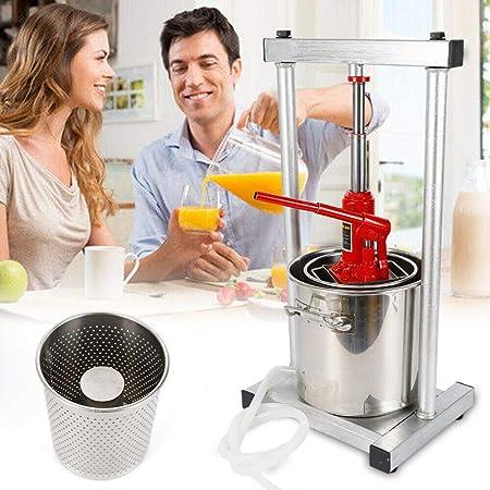 Opinión sobre Licuadora de gran capacidad, 12 L, exprimidor de frutas, trituradora de frutas, prensa de manzanas, prensa de frutas para la producción de vino y manzana