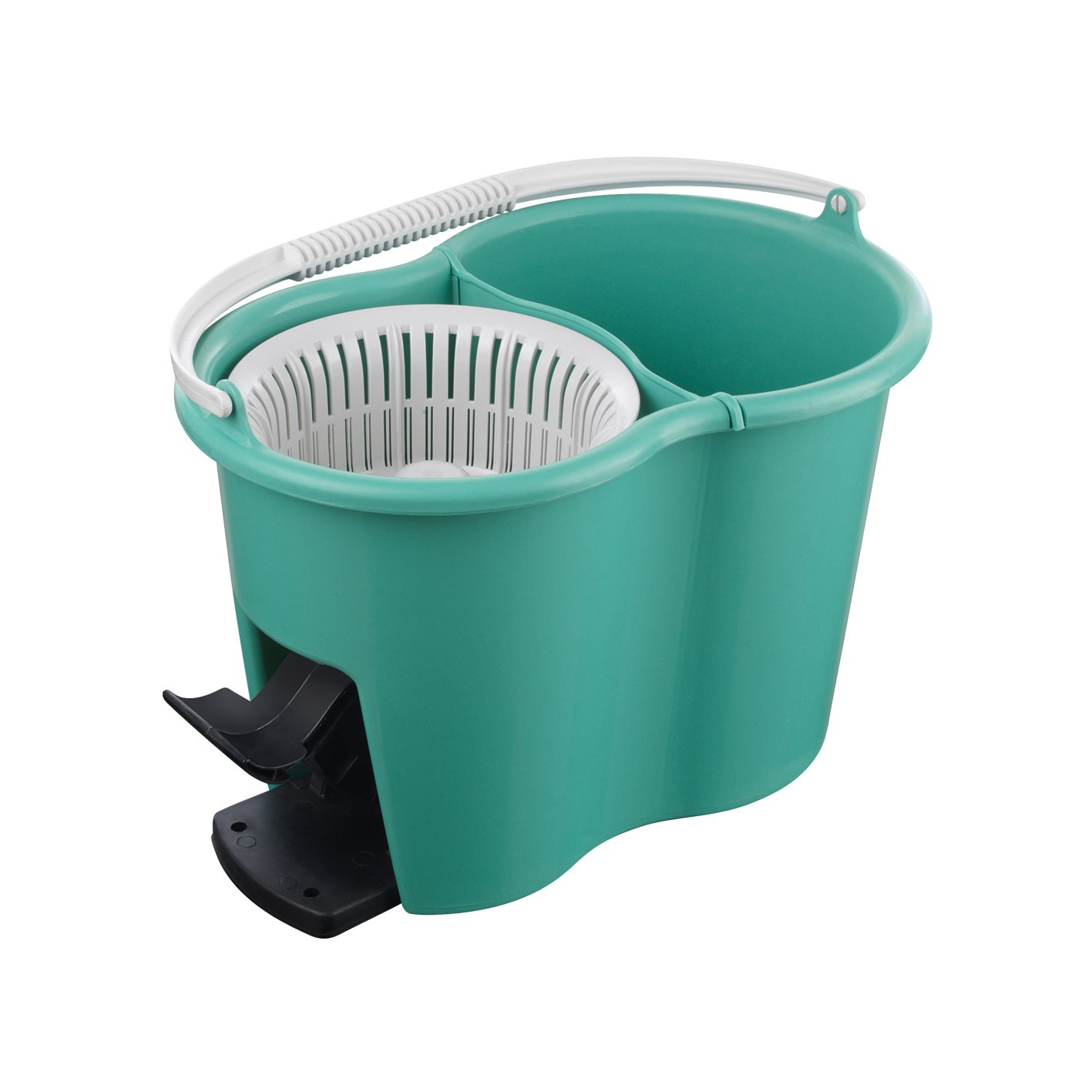 Designed in Germany T/ürkis CLEANmaxx 05549 Power-Wischmopp Spezial-Eimer| Zwei-Kammer-Filtersystem Schmutzwasserfilter Leichtes Auswringen