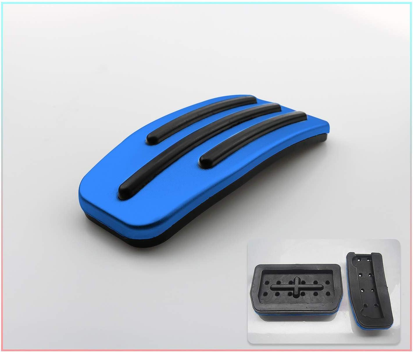 Cdefg Für Model 3 Auto Pedale Bremse Gaspeda Aluminiumlegierung Fußstütze Anti Rutsch Bremse Pedalkappen Blau Auto