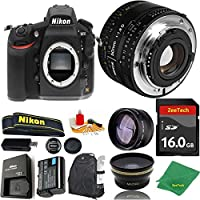 Great Value Bundle for D810 DSLR – 50MM 1.8D + 16GB Memory + Wide Angle + Telephoto Lens + Backpack