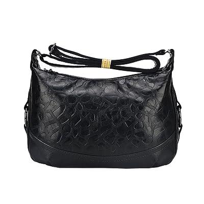 Vbiger PU Leather Shoulder Bag Vintage Cross-body Bag Fashionable Messenger Bag for Middle-aged Women