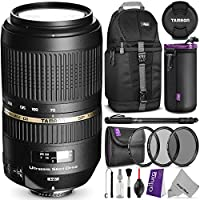 Tamron AF 70-300mm f/4.0-5.6 SP Di VC USD XLD Lens for NIKON DSLR Cameras w/ Essential Photo and Travel Bundle At A Glance Review Image