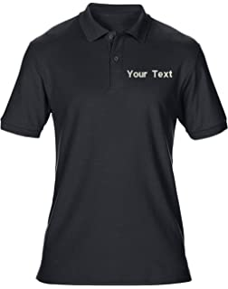 a9772a974 swagwear Embroidered Your Text Logo Personalised Workwear Uniform Mens Polo  T-Shirt 8 Colours (
