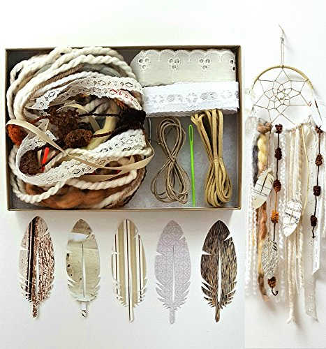 Make Your Own Dream Catcher Kit Craft Activity Cream Brown Wall Hanging Decor Birthday Gift from The House Phoenix