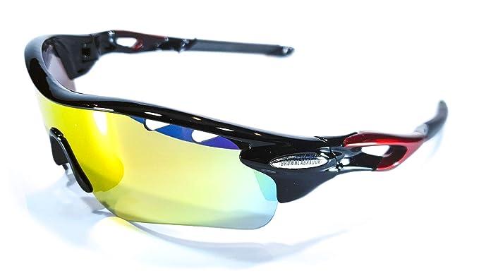 Brown Labrador Gafas Ciclismo polarizadas con 5 Lentes Intercambiables UV 400. Gafas Deportivas, Running Trail Running, Ciclismo BTT, para Hombre y ...
