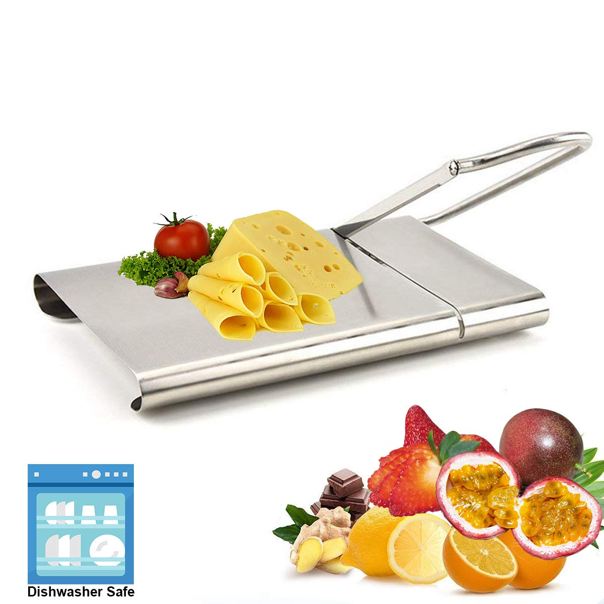 Cheese Slicer Stainless Steel Cheese Cutter, Butter Knife kit Food Slicer with Board - Joy.J