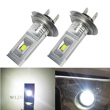 WLJH 2pcs h7 LED luz bombilla Ultra Upgrade seúl LG CSP chipsets extremadamente brillante blanco de ...