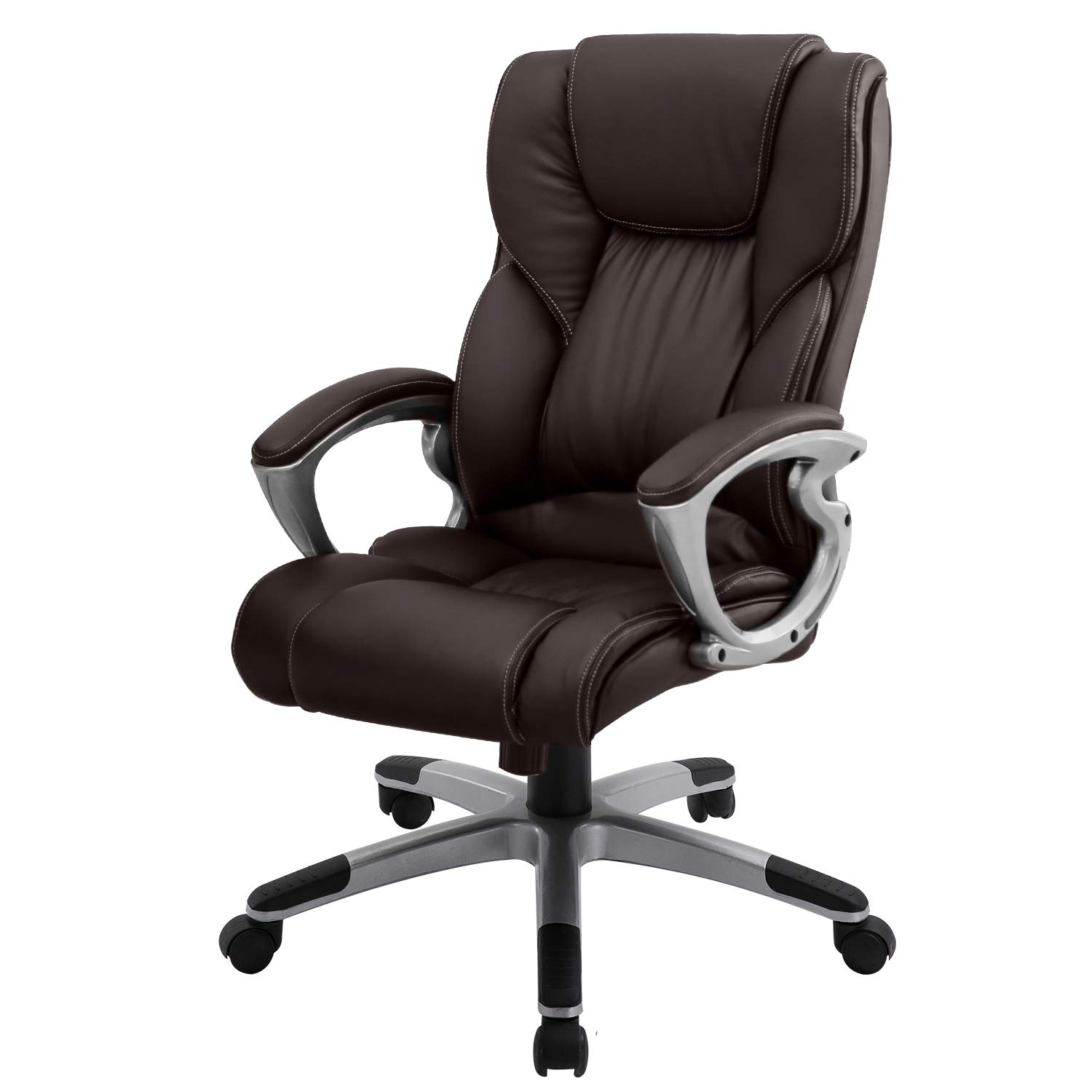 B2C2B High Back Home Office Chair Leather Computer Desk Chair Modern Ergonomic Adjustable Seat and Back Support with Comfortable Lumbar Support for Man Women