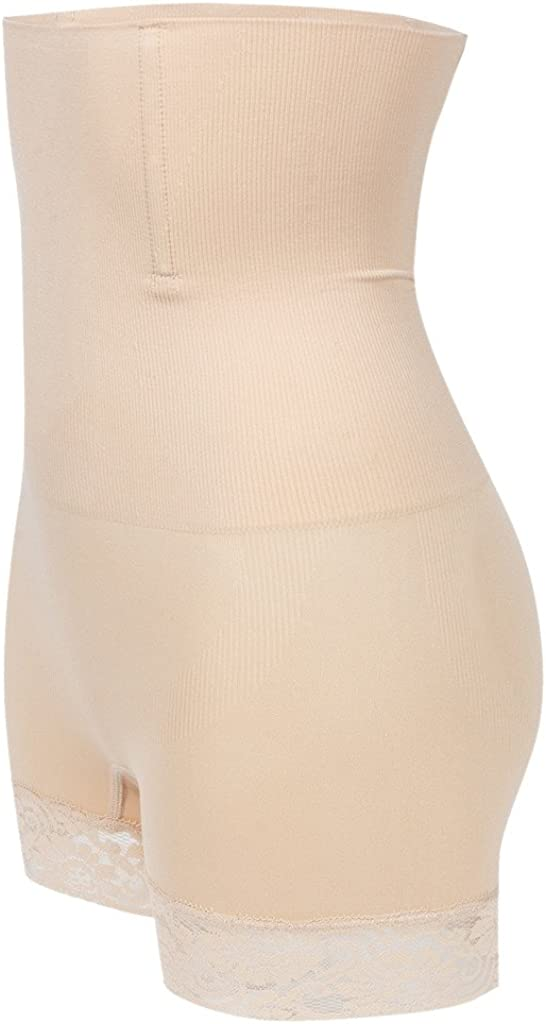 FLORATA Womens Butt Lifter Shaper Seamless Tummy Control Hi-Waist Thigh Slimmer Panty Shapewear