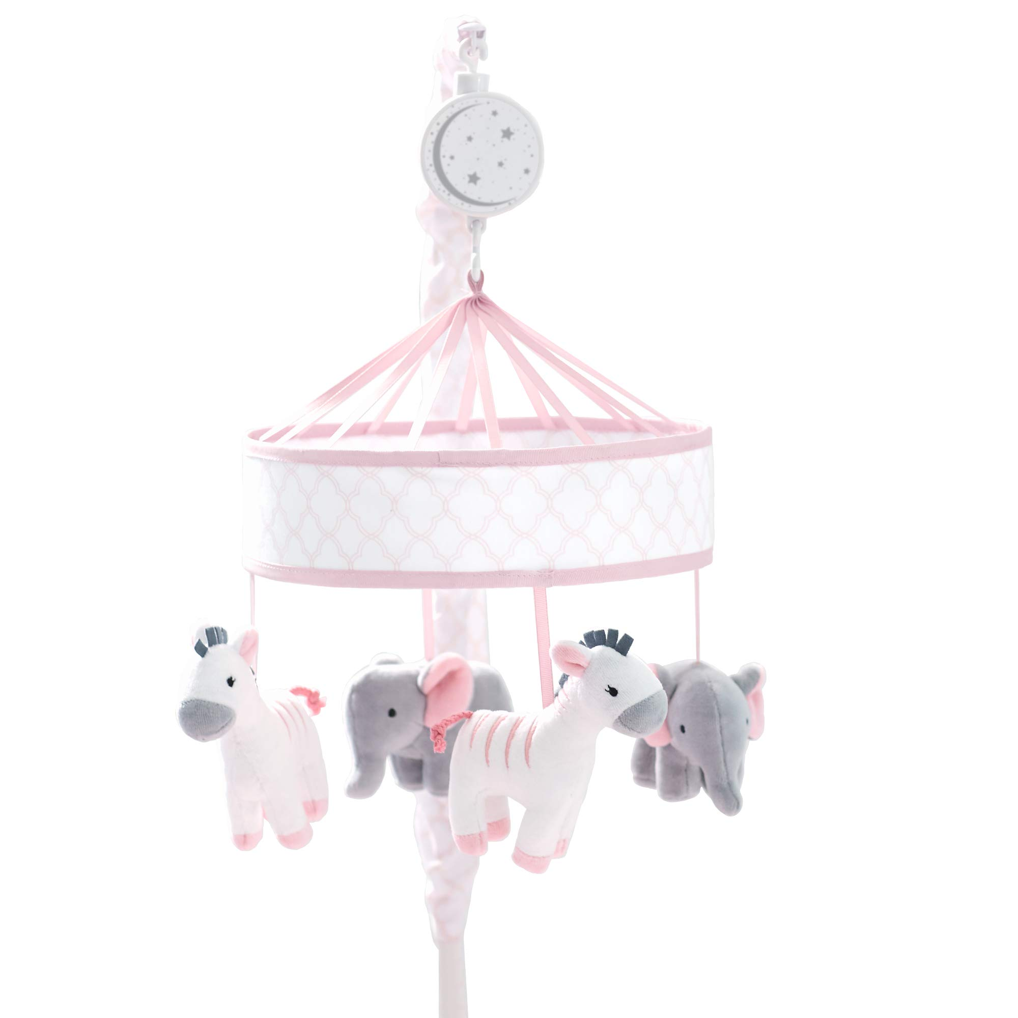 Just Born Dream Musical Mobile, Pink, Grey Giraffe, Elephant, One Size
