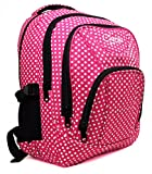 High Quality Large Chervi Womens Girls Polka Dot College School Uni Backpack Bag (Large Pink Polka)