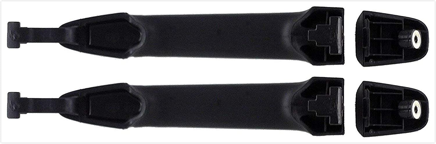 2 Pc Set Eynpire 8073 Exterior Outside Outer Smooth Black Rear Sliding Door Handle for 2004-2010 Toyota Sienna Left = Right