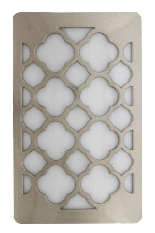 WestekプラグインLED Night Lightコンセントカバー – Tangier decoplug、非表示回転しUnsightlyコンセントプラグ – 自動夕暮れDawnセンサー – Ideal For、バスルーム、廊下、寝室、階段 – ニッケル仕上げ B07BGF7PV8