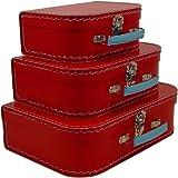 cargo Vintage Travelers Mini Suitcases, Set of 3, Red