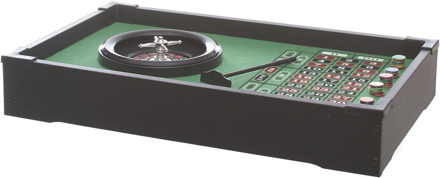 Ruleta con alfombra verde y Chip de mesa: Amazon.es: Hogar
