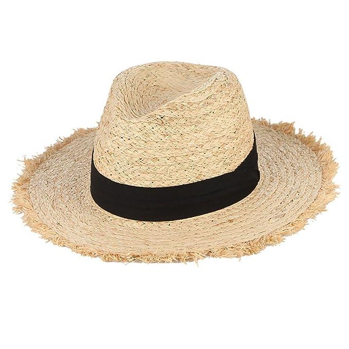 ef3ab54e5cd2 August Jim Sombreros de Paja para Hombre, de Verano, con Borla de ...