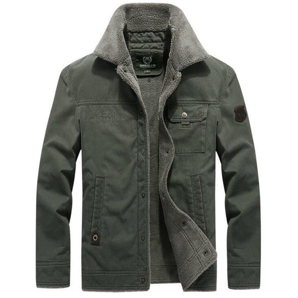人気が高い コートジャケット Large Army メンズデイリーシンプルカジュアル冬のトレンチコート green Large Army green B079DQKLVK, JUSTJAPAN:c56f90cf --- a0267596.xsph.ru
