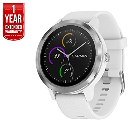 Garmin Vivoactive 3 GPS Smartwatch Black (White Stainless)