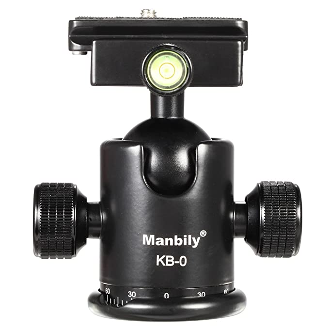 5 opinioni per Andoer® Manbily KB-0 Pro Testa Treppiedi Palla Testa Panoramica Testa