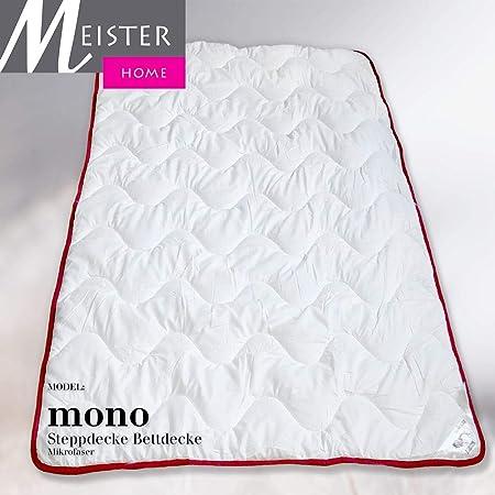 verschiedene Gr. Mikrofaser Mono Bettdecke Steppdecke für Allergiker Öko-Tex