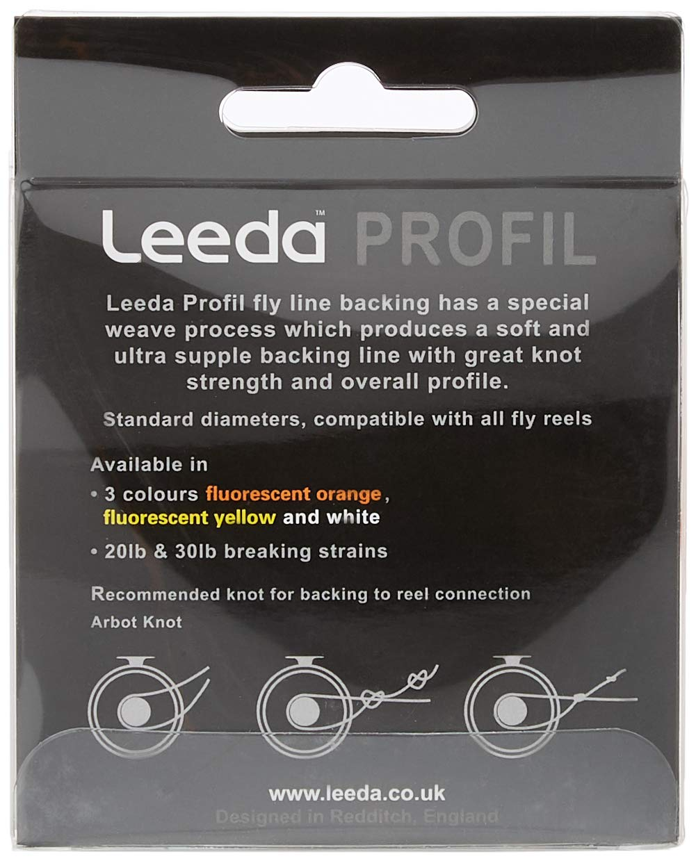 Leeda NEW Profil Soft /& Ultra Supple High Knot Strength Fly Fishing Backing Line