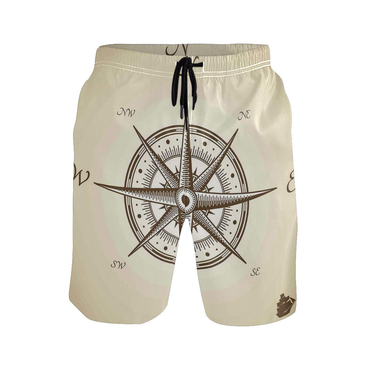 Compass Illustration Navigating Marine Instrument Antique Collection Casual Swim Trunks All