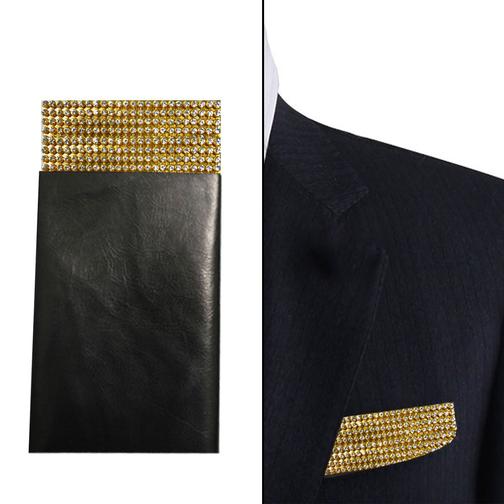 Gold Pocket Square, Gold Crystal Pocket Square, Sparkle silver pocket square, Rhinestones Pocket square , Dream Up Idea