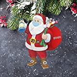 2020 Christmas Ornament Santa Wearing Face_Mask in